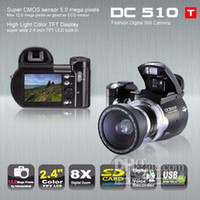 Wholesale NEW MP DIGITAL CAMERA x wide angle lense TFT DC500T Upgrade to DC510T