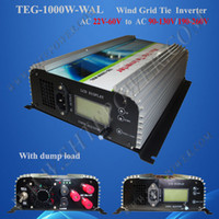 Wholesale 1000W KW wind grid tie inverter AC phase input dump load resister dump load connection