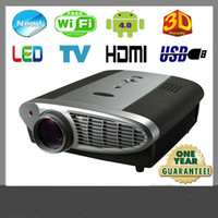Wholesale 1080P Full HD D LED Cheap Android multimedia Projector For Home Cinema Theater Android OS