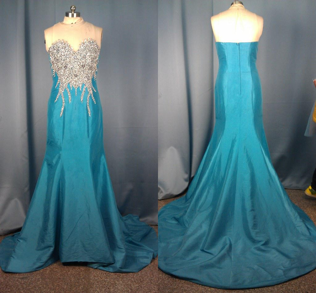 Maxi Dress 2013 Mermaid Beaded Evening Prom Dresses Ball Gown ...