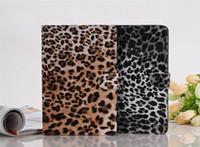 Wholesale 50pcs Luxury Leopard Flip Wallet Book Handbag Leather Case Cover With Stand for iPad Mini selling go
