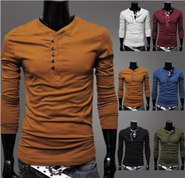 Wholesale 2013 new arrive men s t Shirts Slim Korean O neck long sleeve mens t shirts