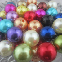 Round 20mm acrylic beads - Hot Sale mm Acrylic Pearl Beads Mixed Color Faux Pearl Beads