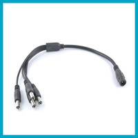 Wholesale 10pcs x2 mm in DC Power Female Jack to Male Plug Splitter Adapter Cable for Security CCTV Camera