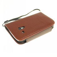Leather For Samsung  Litchi pattern wallet leather case with card holder for samsung S3 mini i8190 high quality 10pcs