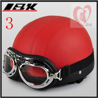Wholesale Free shipment bright black open face helmet IBK new product motorcycle helmet