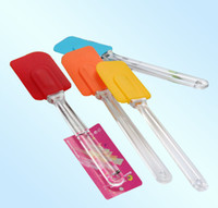 Wholesale 10 quot Silicone Butter Spatula Baking BBQ Supplies Tools Cheese Spatulas