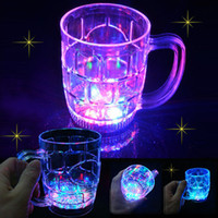 flashing light up glasses - 500ML Water Activated LED Light Up Flashing Rocks Glass Drinkware Lamp MUG LED drink Beer Cup