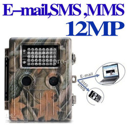 Wholesale New M Hunting Camera SMS MMS E mail via gsm network digital trail weather housing Night Vision IR