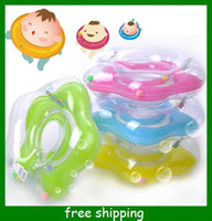 Wholesale New Baby Kids Infant Adjustable Swimming Neck Float Ring Safety Aid Tube mix color sizes to