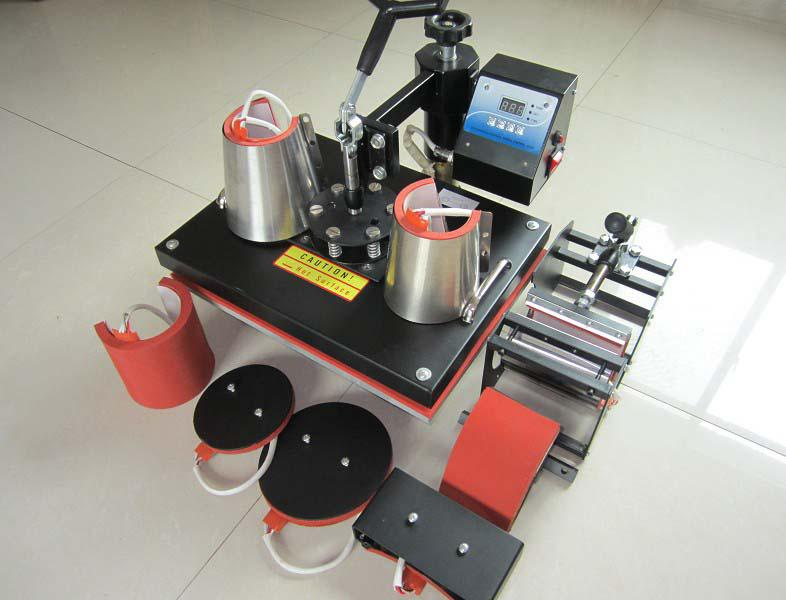 Cheap 8 in 1 tshirt mug cap plate combo heat press machine for Cheapest t shirt printing machine