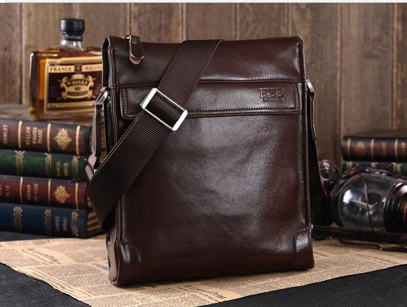 Genuine Leather Men Morden Fashion Shoulder Bags Briefcase Male ...