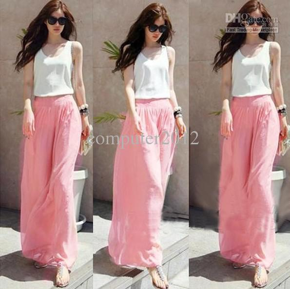2017 2013 Summer New Stylish Women's Long Gaucho Trousers Dockers ...
