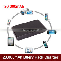 Wholesale 20000mAh Power Bank Universal Backup USB Battery External Battery Pack Charger