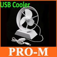 Wholesale Mini Portable Super Mute USB Cooler Cooling Desk Fan for Laptop PC White Color Free