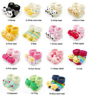 Wholesale 10 Pair D Cartoon styles Anti slip Socks sock Slipper Shoes Boots Month fx119