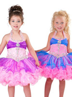 Girl's Formal Dresses 2013 Halter Beads Organza Mini Girl's ...