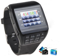 Wholesale Unlocked Touch Screen GSM Dual SIM Bluetooth Spy Camera Watch Cell Phone Mobile Q8