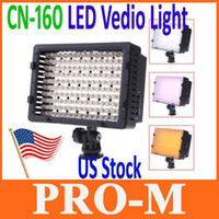 Wholesale US Shipping CN LED Video Light Camera DV Camcorder Lighting K For Cacon Nikon
