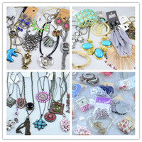 Wholesale Bohemian Women Jewelry Diamond Pearl Necklaces Bracelets Earrings Rings Mix Items By Weight g