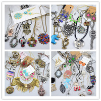 Wholesale Bohemian Cheap Women Jewelry Pendant Necklaces Bracelets Earrings Rings Pearl Crystal Alloy Acrylic Mix Items By Weight g