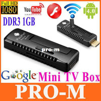 Single Core Not Included 1080P (Full-HD) iPazzPort HDMI Android 4.0 Smart TV Player Stick Google TV Box Mini PC Voice Control DDR3 1GB 8GB