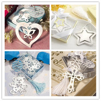 Wholesale 10 different styles wedding favor bookmark mixed order wedding gift bookmarks favors