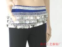 Women Belly Dancing Chiffon 338 coins hip scarf Belly dance hip scarf women wear costumes belly dancing tribal belt
