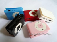Wholesale Lowest Price Clip Music Mp3 Player C Shape With Card Slot Earphone USB Cable Crystal Box