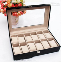 Wholesale High grade PU value with the pillow watches box jewelry box watches boxes hjk53