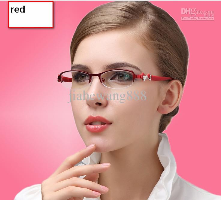 Women s Eyeglass Frames For Small Faces : Super Quality Fashion Small Round Face Half Box Glass ...