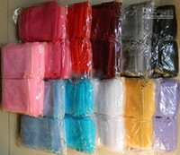 Wholesale Jewelry bags Organza Pouches travel satin drawstring X20CM deep pink Large Gif Bag Jewel Case