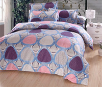 Wholesale Triangle Printed Diamond Cotton King Queen Bedding Set Bed sheet Duvet Cover