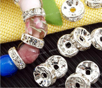 Wholesale 2013 mm Silver Rhinestone Rondelle Spacers Beads Basketball Wives Earrings Beads Shamballa Beads Jewelry Findings