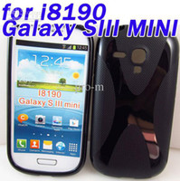 For Samsung Clear  DHL free shipping Soft S-Line Wave TPU Phone cover case for samsung i8190 Galaxy S3 SIII mini