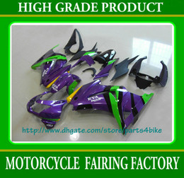 Purple green racing Fairing kit KAWASAKI Ninja 250R EX 250 2008 2009 2010 2011 EX250 08 09 10 11 RX1