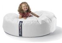 Wholesale white round kids beanbag bean bag lazy chair