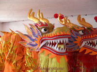 Wholesale Yellow Silk costume Chinese DRAGON DANCE ORIGINAL Dragon Chinese Folk Festival Celebration Costume