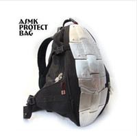 Wholesale Motorcycle backpack ASMK alloy motorcycle bag backpacks metal plate and metal plate top sale