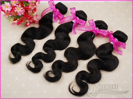 Wholesale DHL Free AAAAA Grade quot quot Body Wave Brazilian Virgin Remy Human Hair Weave Hair Weft