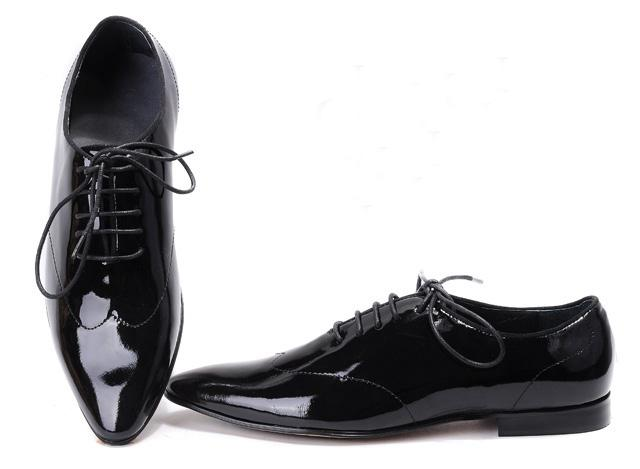 Men&-39-s Black Dress Shoes Mens Patent Leather Casual Shoes Party ...