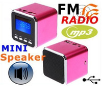 Wholesale Digital portable Speaker Mini Speakers MP3 Player USB Disk Micro TF Card FM sound box Pic S104
