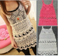 Wholesale New crocheted lace vest handmade crochet lady sexy vest Women s vest