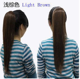 Wholesale Fashion beauty wowen Ponytail Horsetail Clip Wig pony tail Straight horsetail hair with clasp cm