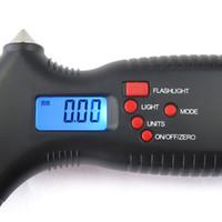 Wholesale 20pcs EMS in Digital LCD Car Tyre Tire Pressure Gauge Meter Car Hammer or Motorcycle