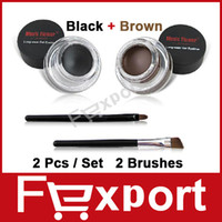 Wholesale Best Seller in One Brown Black Gel Eyeliner Long Wear Eyes Make Up Waterproof Cosmetics Set Eye Liner Makeup Eyes Fexport