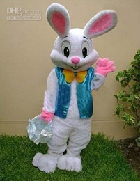 Wholesale PROFESSIONAL EASTER BUNNY MASCOT COSTUME Bugs Rabbit Hare Adult Fancy Dress Cartoon Suit Free jkl