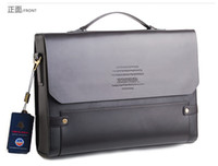 Wholesale 2013 Fashion ZEFER Designer bag men s bag briefcase Dark coffee PU leather cross body bag free ship