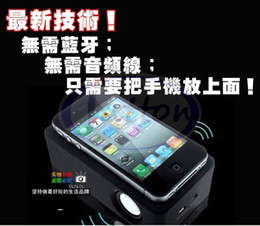 Wholesale factory Wireless induction Audio Interaction Amplifying Speaker magic boose speaker for iphone DHL