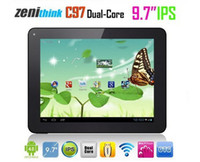 Wholesale Zenithink C97 inch Point IPS Capacitive Multi Touch Screen Android Tablet PC Cortex A9